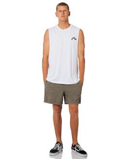 WHITE MENS CLOTHING RUSTY SINGLETS - MSM0245WHT