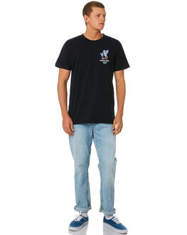 BLACK MENS CLOTHING THE LOBSTER SHANTY TEES - FROTHTOWNBLK