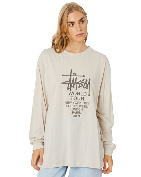 WHITE SAND WOMENS CLOTHING STUSSY TEES - ST107005WSND