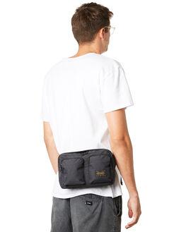 BLACK MENS ACCESSORIES STUSSY BAGS + BACKPACKS - ST792021BLK