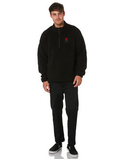BLACK MENS CLOTHING GLOBE JUMPERS - GB01933017BLK