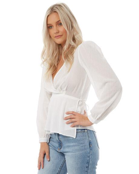 WHITE WOMENS CLOTHING ROLLAS FASHION TOPS - 12531WHT
