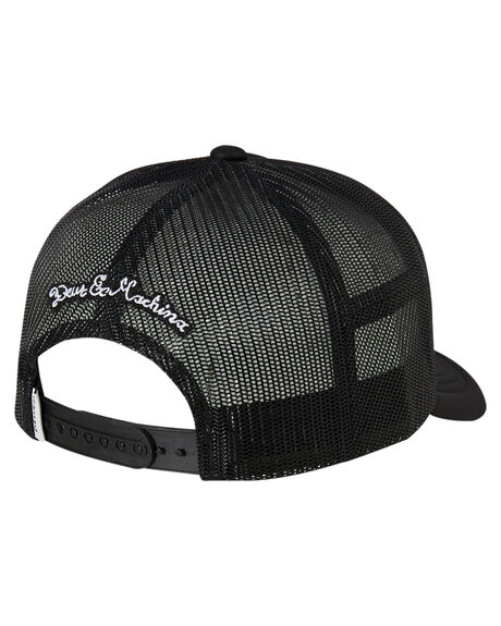 BLACK MENS ACCESSORIES DEUS EX MACHINA HEADWEAR - DMF87502BLK