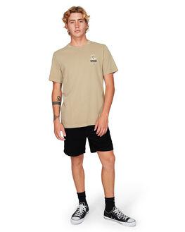 DUST YELLOW MENS CLOTHING RVCA TEES - RV-R192044-DYL