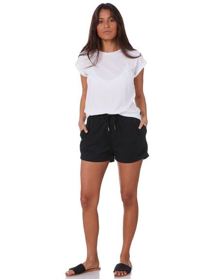 BLACK WOMENS CLOTHING SILENT THEORY SHORTS - 6044007BLK