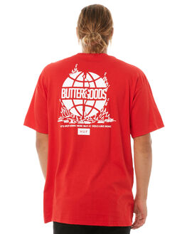 RED MENS CLOTHING HUF TEES - TS00488RED