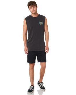 BLACK MENS CLOTHING BILLABONG SINGLETS - 9595504BLK