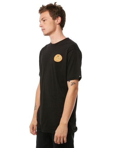 BLACK MENS CLOTHING ZOO YORK TEES - ZY-MTA8113BLK