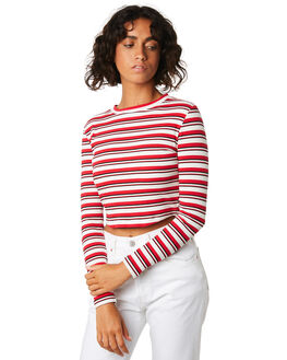 RED STRIPE WOMENS CLOTHING COOLS CLUB TEES - 121-CW2REDS