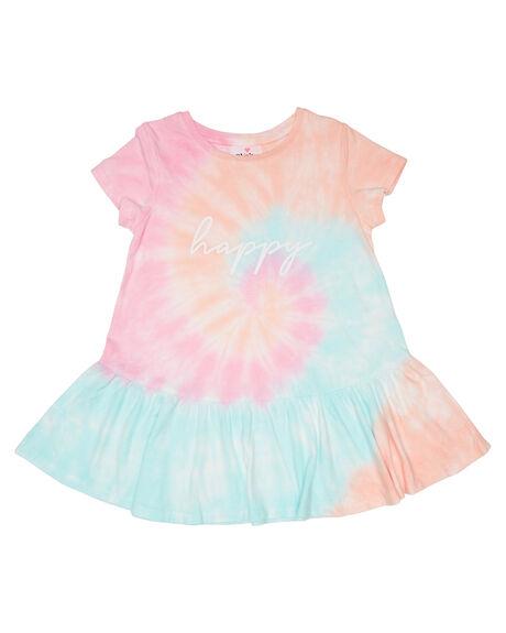 MULTI TIE DYE KIDS GIRLS EVES SISTER DRESSES + PLAYSUITS - 8045030MULT