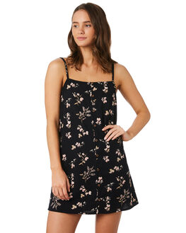 BLACK FLORAL WOMENS CLOTHING O'NEILL DRESSES - 5421618BFL