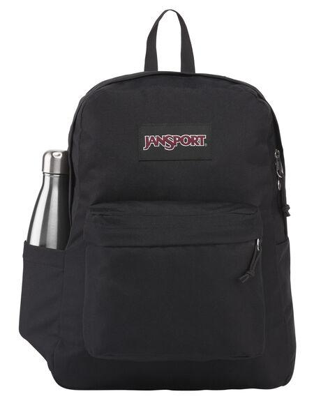 BLACK MENS ACCESSORIES JANSPORT BAGS + BACKPACKS - JS0A4QUTJS008