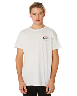 OFF WHITE MENS CLOTHING BANKS TEES - WTS0371OWH