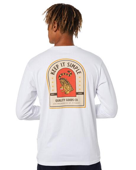 WHITE MENS CLOTHING MR SIMPLE TEES - M-03-43-03WHT