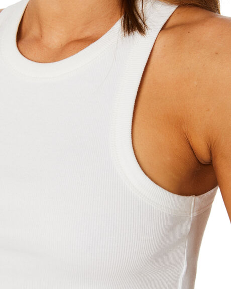 WHITE WOMENS CLOTHING JAGGER AND STONE SINGLETS - JS549-1WHT