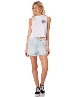 WHITE WOMENS CLOTHING SANTA CRUZ SINGLETS - SC-WTC8701WHI