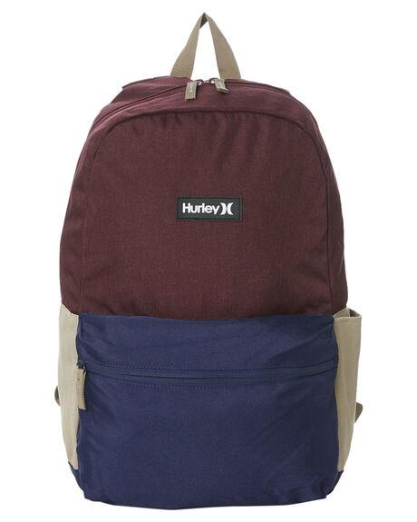 DEEP MAROON HEATHER KIDS BOYS HURLEY BAGS + BACKPACKS - HH9A7079R62