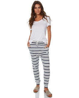 WHITE NAVY STRIPE WOMENS CLOTHING SWELL PANTS - S8173191WHNS