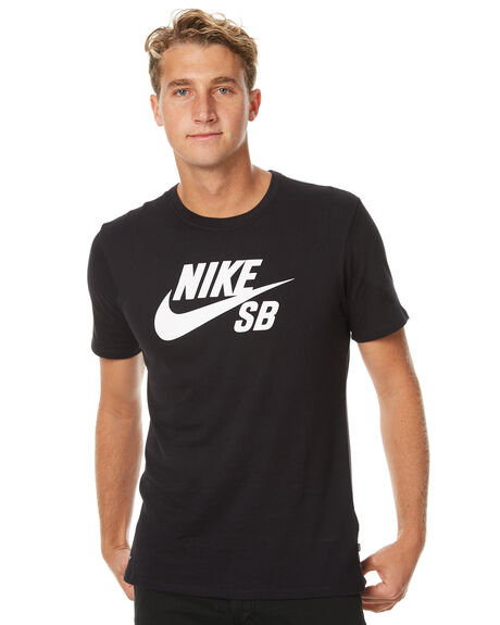 BLACK MENS CLOTHING NIKE TEES - 821946013