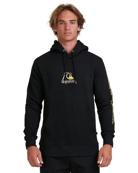 BLACK MENS CLOTHING QUIKSILVER JUMPERS - EQYFT04090-KVJ0