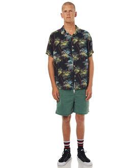 BLACK MENS CLOTHING STUSSY SHIRTS - ST071404BLK