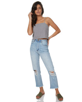 POINT BREAK BLUES WOMENS CLOTHING ZIGGY JEANS - ZW-1366PBB