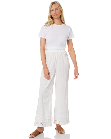 WHITE WOMENS CLOTHING RUSTY PANTS - PAL1185WHT