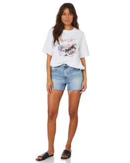 WHITE WOMENS CLOTHING ALL ABOUT EVE TEES - 6456167WHT