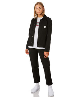 BLACK RINSED WOMENS CLOTHING CARHARTT JACKETS - I0265658902