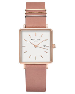 PINK ROSE GOLD WOMENS ACCESSORIES ROSEFIELD WATCHES - QOPRG-Q026PNKRG