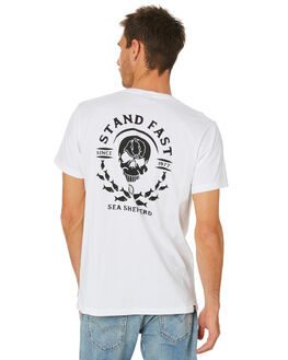 WHITE MENS CLOTHING SEA SHEPHERD TEES - SSA1002WHT