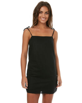 BLACK WOMENS CLOTHING TEE INK DRESSES - CAST24ABLK