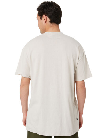 SOLID WHITE SAND MENS CLOTHING STUSSY TEES - ST002001SWHSN