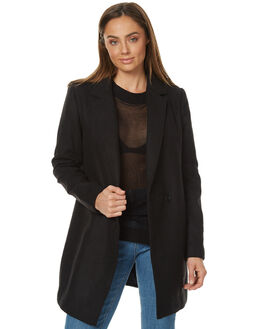 BLACK WOMENS CLOTHING THE FIFTH LABEL JACKETS - TX170416JBLK