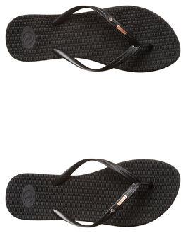 BLACK WOMENS FOOTWEAR RIP CURL THONGS - TGTCD90090