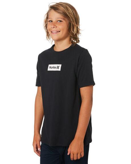 BLACK WHITE KIDS BOYS HURLEY TOPS - BQ1476011