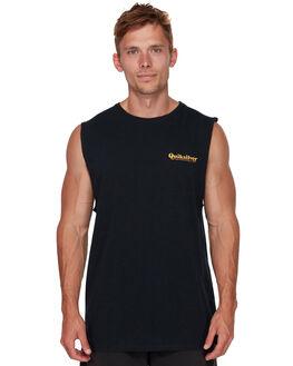 BLACK MENS CLOTHING QUIKSILVER SINGLETS - EQYZT05133KVJ0