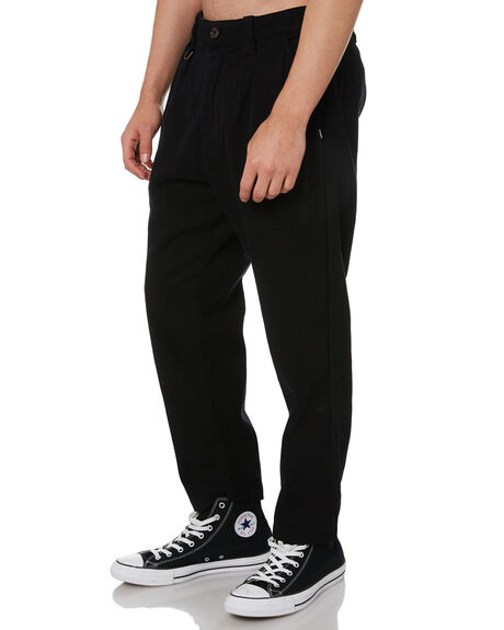 WASHED BLACK MENS CLOTHING THRILLS PANTS - TS20-402BWWBK