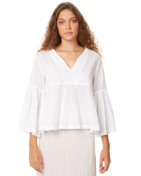 WHITE WOMENS CLOTHING ZULU AND ZEPHYR FASHION TOPS - ZZ2061WHT