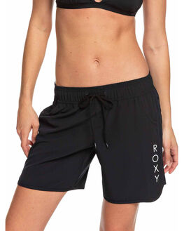 TRUE BLACK WOMENS CLOTHING ROXY SHORTS - ERJBS03141-KVJ0