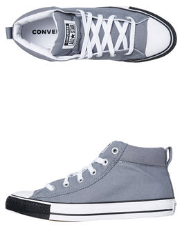 COOL GREY WOMENS FOOTWEAR CONVERSE SNEAKERS - SS166338CCGRYW