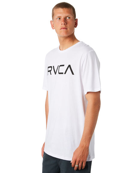 WHITE BLACK MENS CLOTHING RVCA TEES - R161057WHT