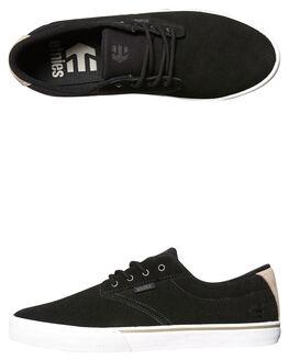 BLACK WHITE SIL MENS FOOTWEAR ETNIES SKATE SHOES - 4101000449-983