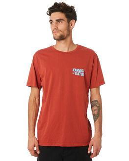 RED MENS CLOTHING KATIN TEES - TSISL04RED