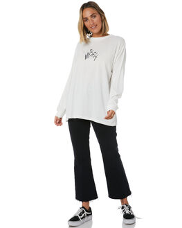 WASHED WHITE WOMENS CLOTHING MISFIT TEES - MT105009WWHT