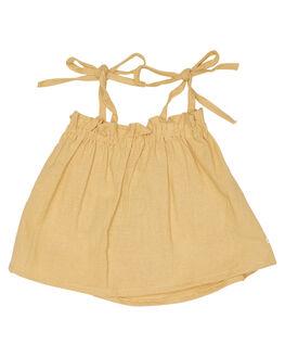 LINEN OLD GOLD KIDS TODDLER GIRLS SWEET CHILD OF MINE SINGLETS - SP18BONNIETPGLD