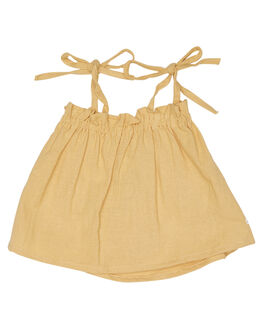 LINEN OLD GOLD KIDS GIRLS SWEET CHILD OF MINE TOPS - SP18BONNIETPGLD