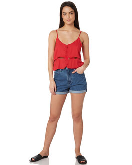 CHERRY WOMENS CLOTHING ALL ABOUT EVE FASHION TOPS - 6424011RED