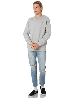 MEDIUM GREY HEATHER MENS CLOTHING LEVI'S JUMPERS - 56176-0001MDGRY