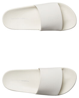 WHITE WOMENS FOOTWEAR WINDSOR SMITH SLIDES - 9492WSWWHT
